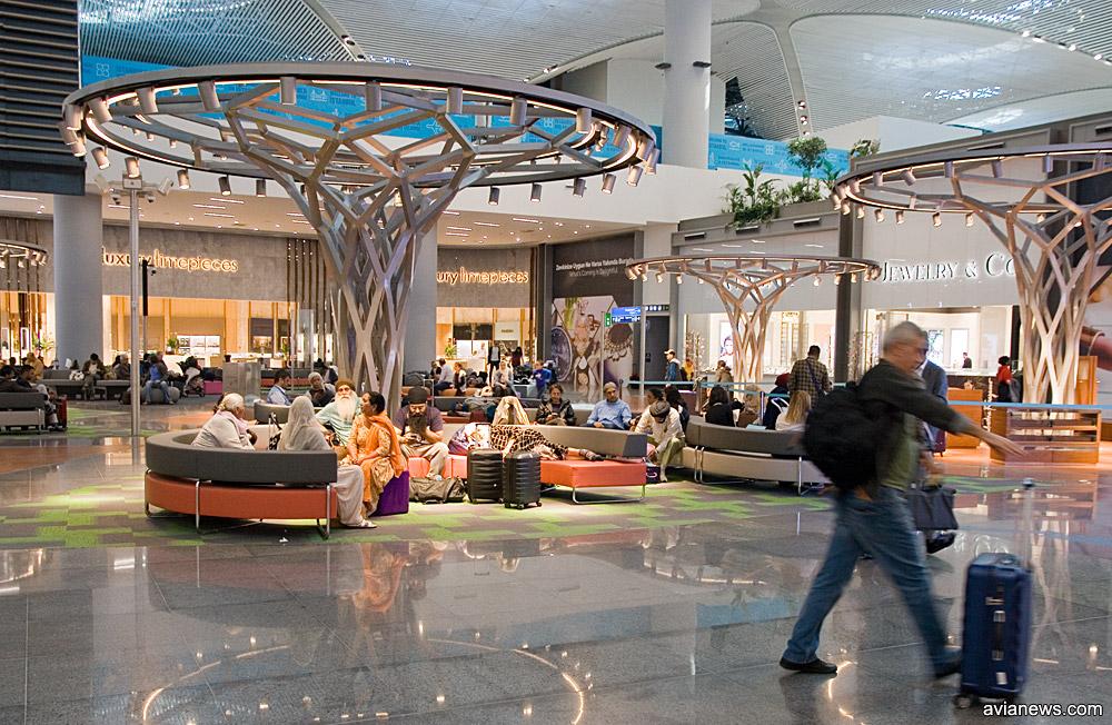 Зона отдыха в новом аэропорту Стамбула