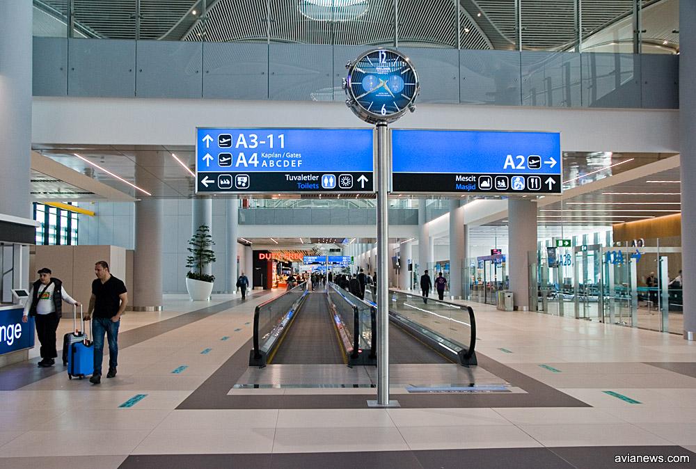 Галерея вылета международных рейсов в новом аэропорту Стамбула