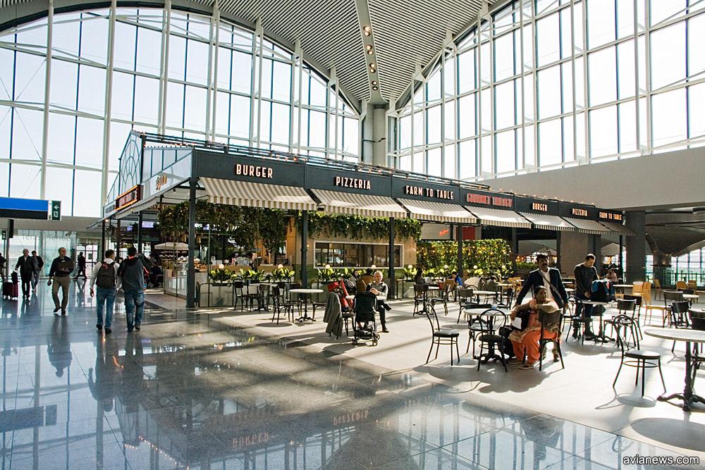 Кафе в новом аэропорту Стамбула