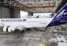 """Airbus A320 Lufthansa в специальной ливрее """"Sau yes to Europe"""""""