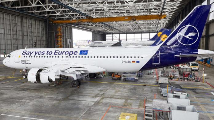Airbus A320 Lufthansa в специальной ливрее