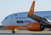 Boeing 737-800 авиакомпании SkyUp