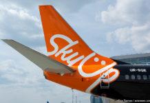 Boeing 737-700 в специальной ливрее SkyUp футбольного клуба Шахтер
