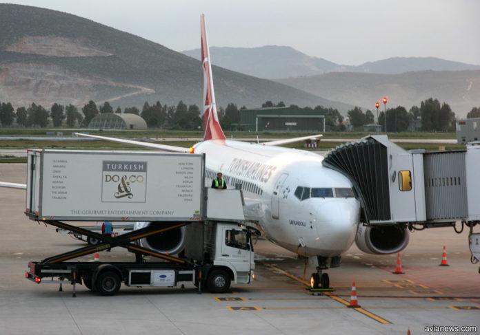 Boeing 737-800 Turkish Airlines в аэропорту Бодрум