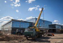Строительство нового терминала, аэропорт Запорожье, апрель 2019 года