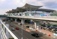 Терминал D в аэропорту Борисполь и забор в зоне прилета