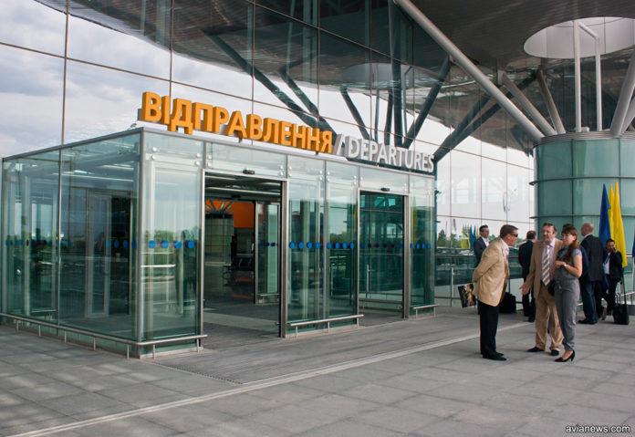 Вход в терминал D в аэропорту Борисполь