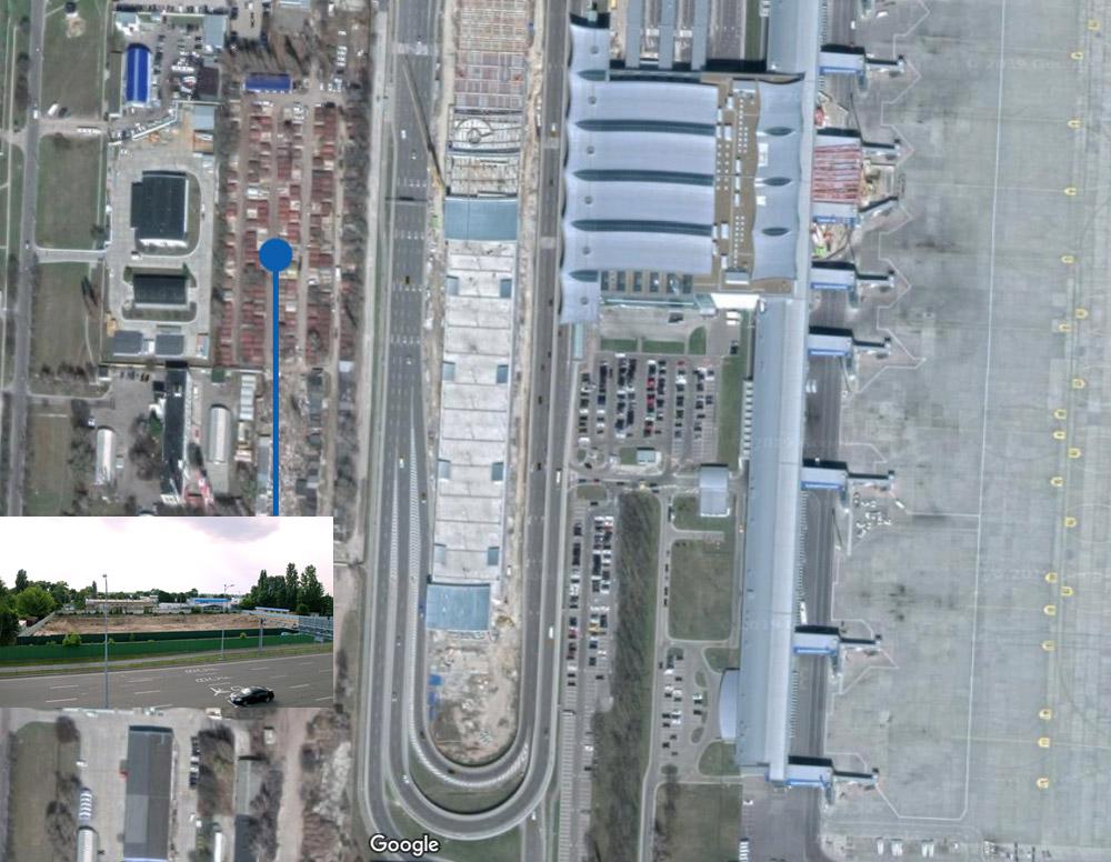 Расположение отеля на карте. Использован скриншот карты Google