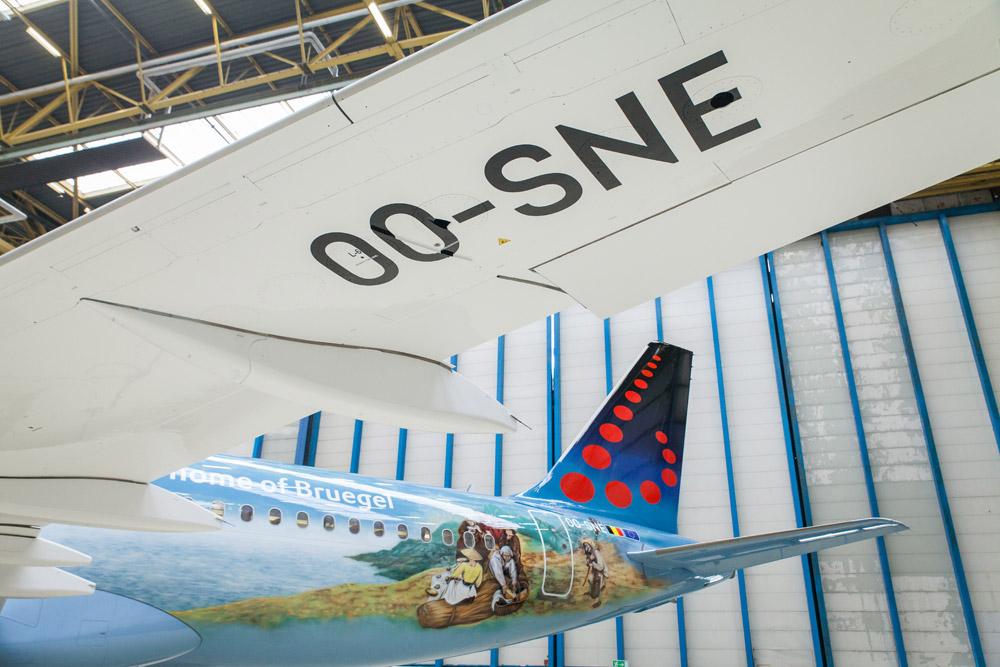 A320 Brussels Airlines в ливрее Bruegel