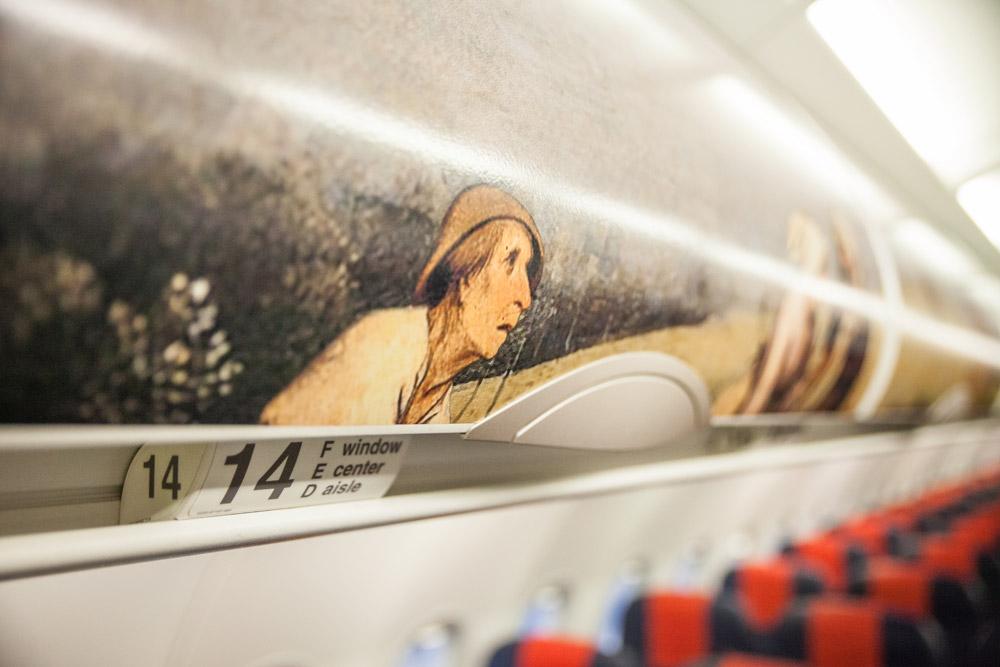 Салон A320 Brussels Airlines в ливрее Bruegel