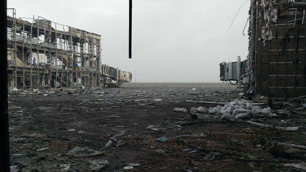Аэропорт Донецк в ходе боев, 2014 год
