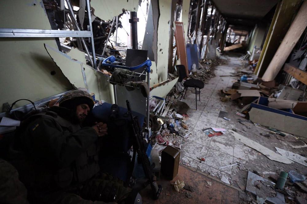 Аэропорт Донецк в ходе боев. 2014 год