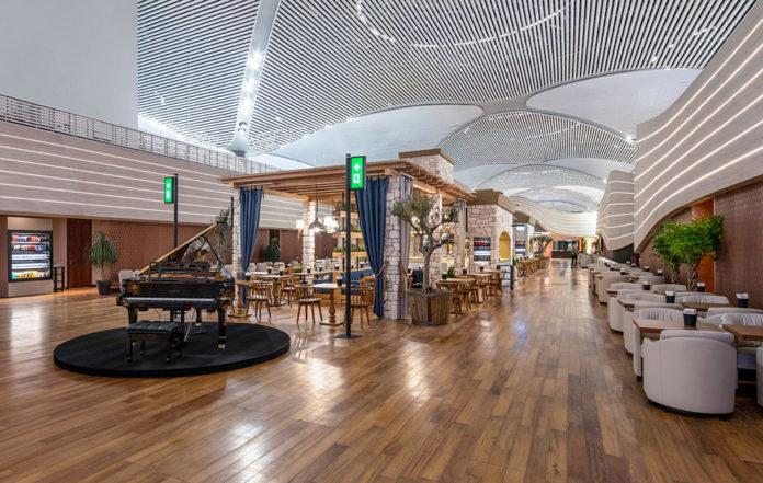 Бизнес-зал в новом аэропорту Стамбула