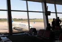 Пассажиры в аэропорту ожидают рейса МАУ
