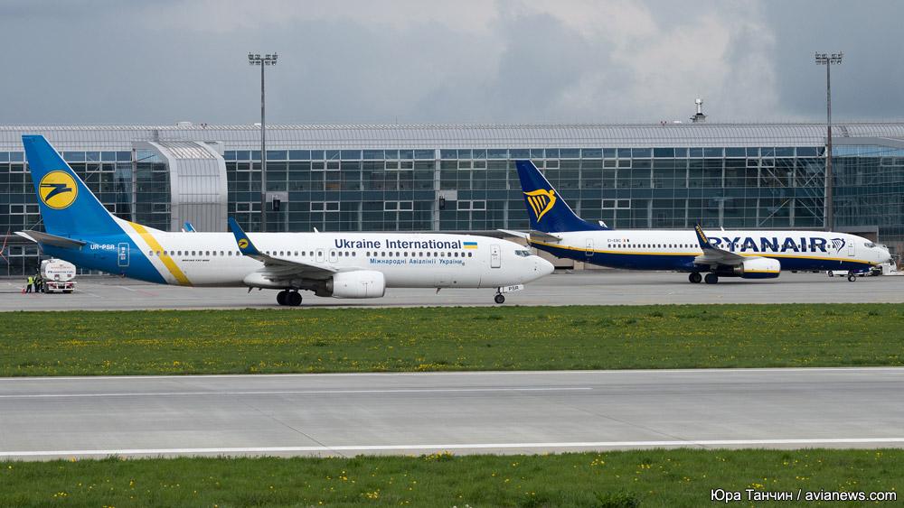 Самолеты МАУ и Ryanair