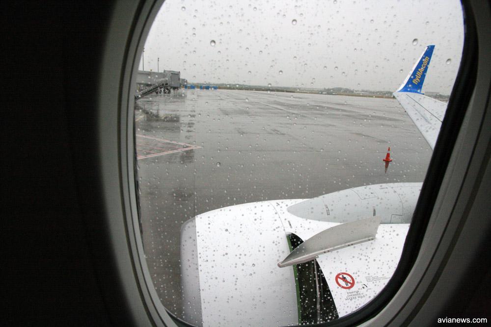 Вид из окна самолета МАУ
