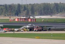 Состояние Superjet 100 после тушения пожара. Аэропорт Шереметьево.