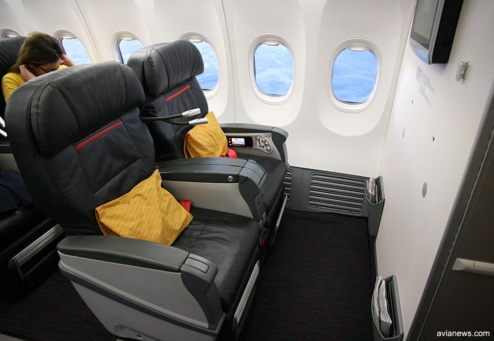 Кресла бизнес-класса в Boeing 737-800 Turkish Airlines, предназначенном для выполнения международных рейсов