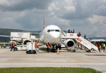 Обслуживание самолета в аэропорту