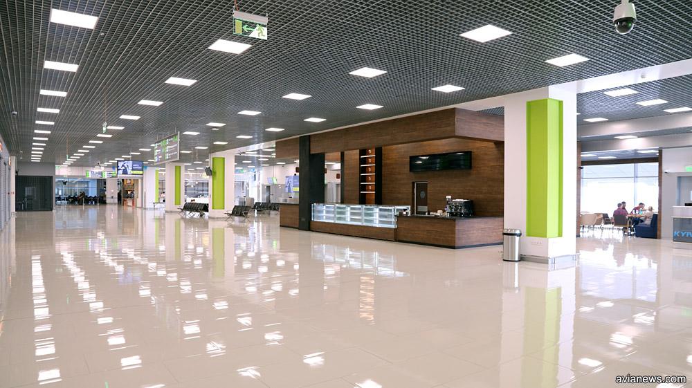 Зал ожидания вылета в новом крыле терминала А
