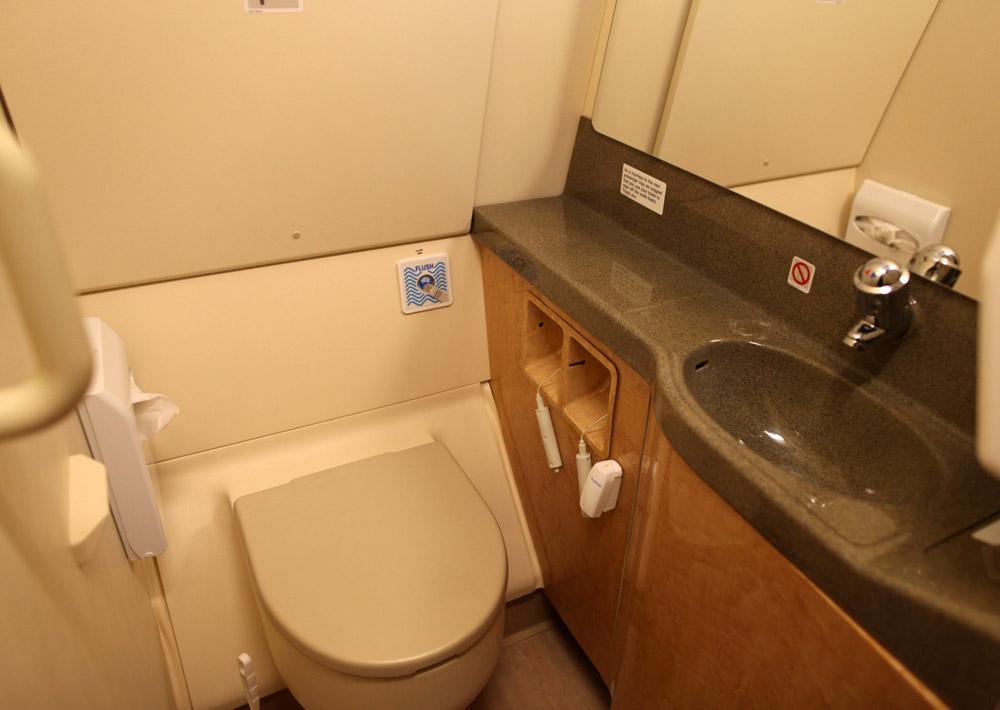 "Туалет в самолете Airbus A319 ГАП ""Украина"" UR-ABA"