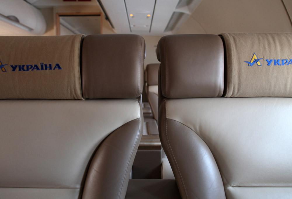 """Салон самолета Airbus A319 ГАП """"Украина"""" UR-ABA"""