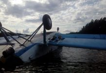 """Ан-2 UR-KAU в озере рыбхоза """"Нивки"""""""