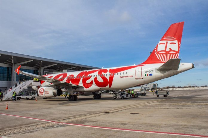 A320 Ernest Airlines в аэропорту Харьков