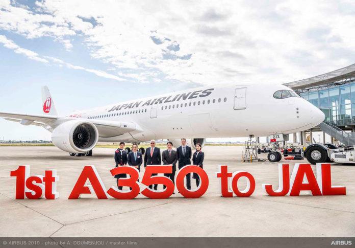 Первый Airbus A350-900 для Japan Airlines (JAL)