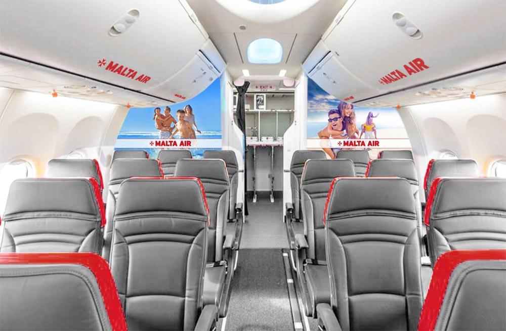 Так будет выглядеть салон самолетов Malta Air