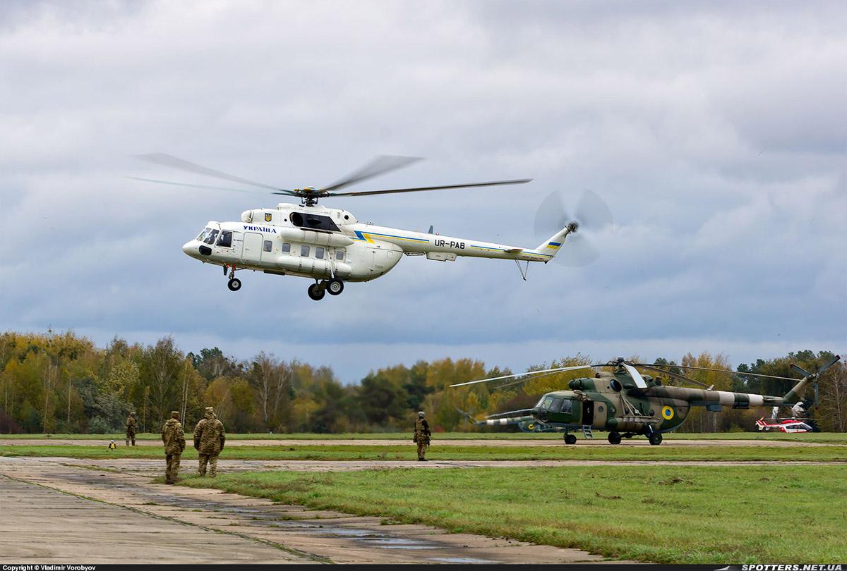 "Вертолет Ми-8МТВ-1 UR-PAB ГАП ""Украина"""