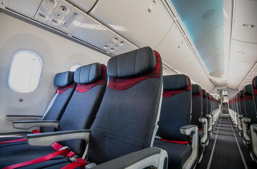 Кресла эконом-класса в Boeing 787-9 Turkish Airlines