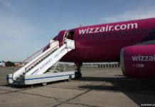 Самолет Wizz Air в аэропорту Одесса в 2008 году
