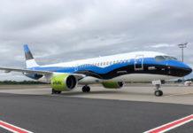 "Airbus A220-300 airBaltic ""Таллинн"" в специальной ливрее цветов флага Эстонии"
