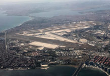 Аэропорт Ататюрка в Стамбуле с высоты. Июль 2019 года