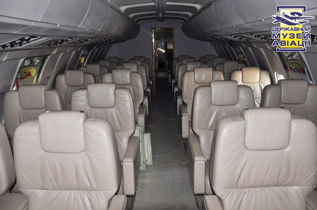 """Президентский Ил-62 UR-86528 ГАП """"Украина. Фото центрального салона для членов делегации"""