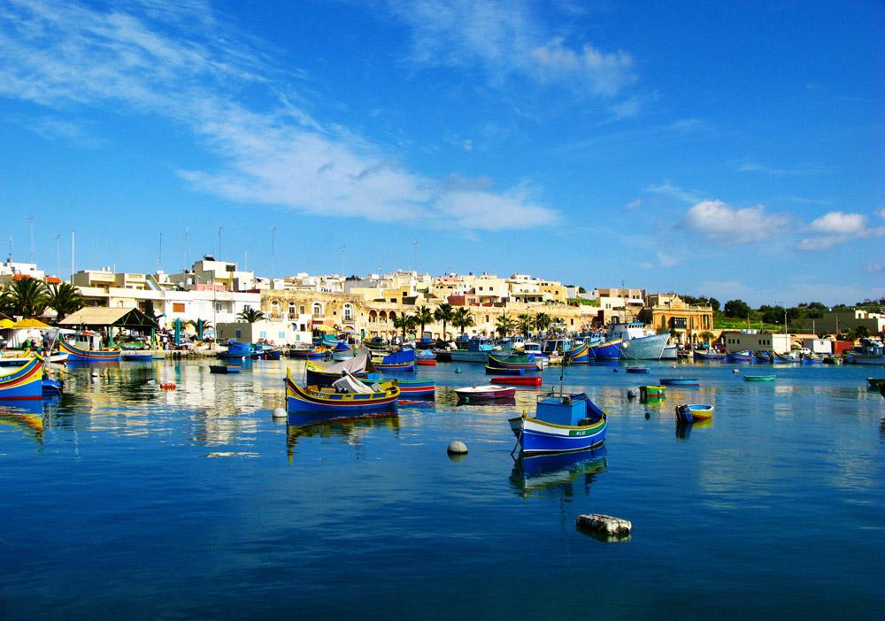 Рыболовецкая деревня Марсашлокк на Мальте