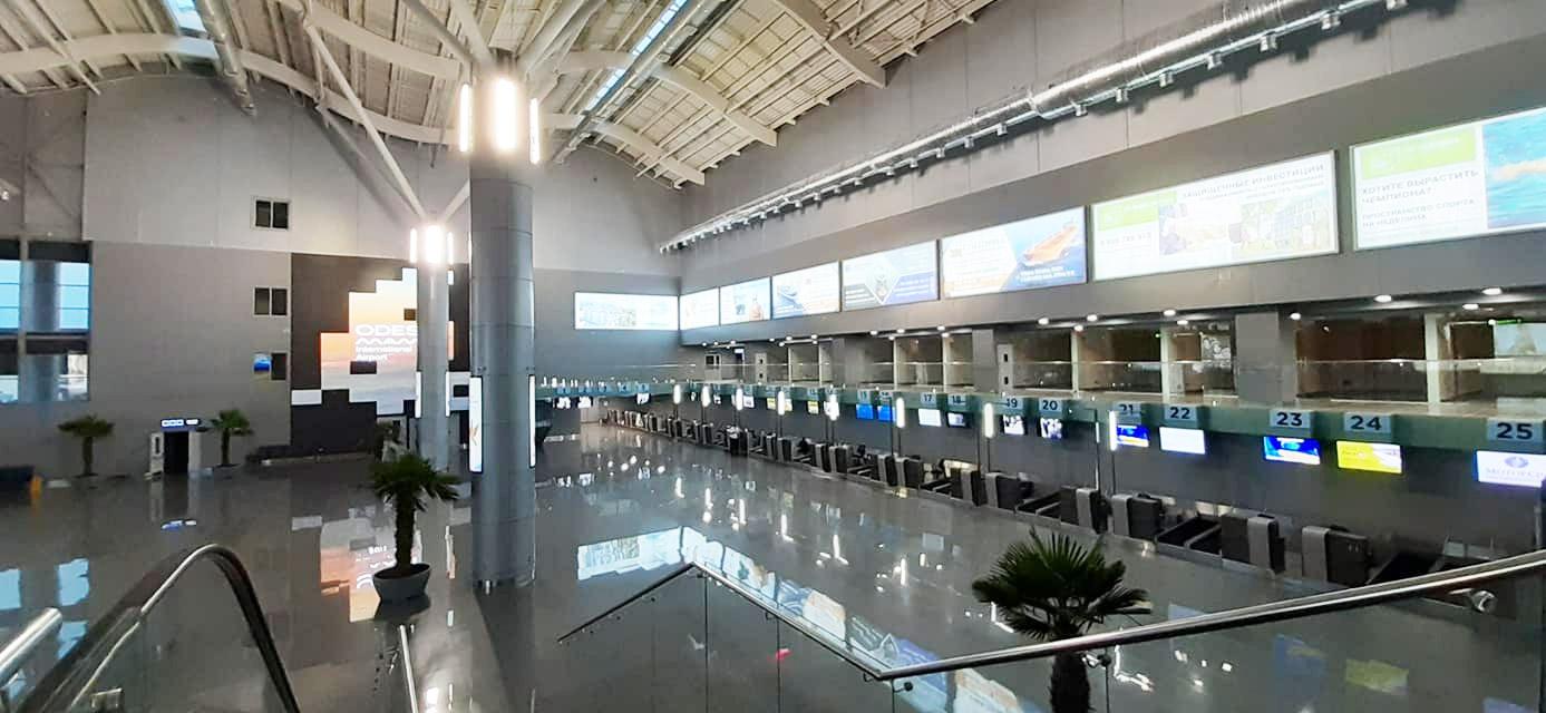 Зал регистрации в новом терминале аэропорта Одесса
