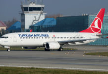 Boeing 737-800 Turkish Airlines в аэропорту Львов
