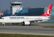 Boeing 737-800 Turkish Airlines в аэропорту Львов