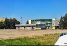 Вид на терминал аэропорта Запорожье со стороны перрона