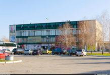 Вид на терминал аэропорта Запорожье со стороны привокзальной площади