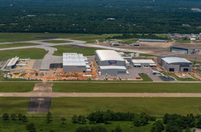 Завод Airbus в городе Мобил, США