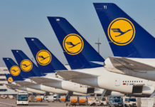 Хвосты самолетов Lufthansa