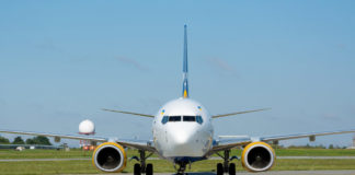 Руление самолета в аэропорту
