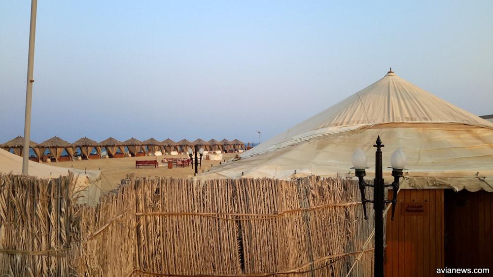 Лагерь-отель в пустыне в Катаре