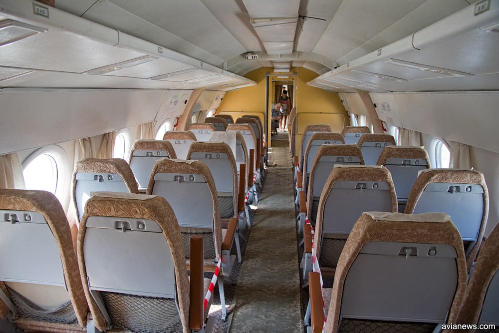 Салон в Ту-134 для делегаций
