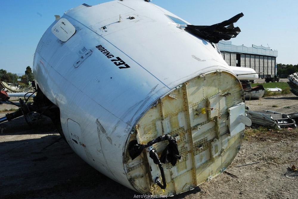 Boeing 737 в процессе утилизации