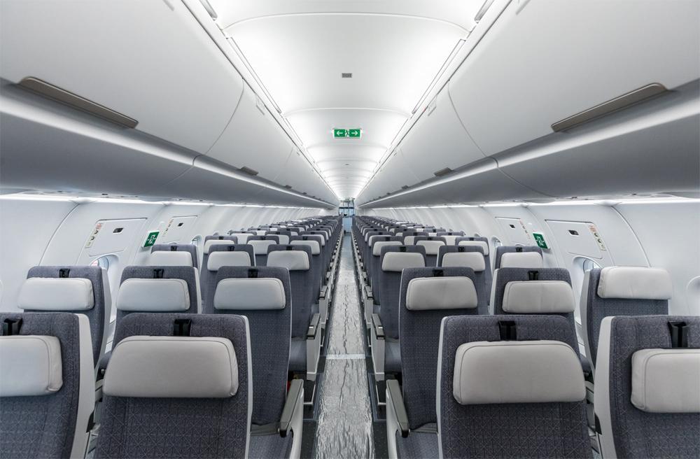 Кресла эконом-класса в Airbus A321LR Air Astana