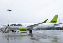 Airbus A220-300 airBaltic YL-AAT